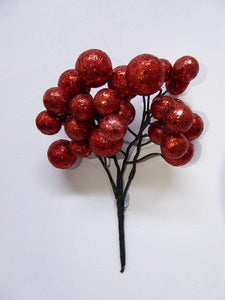 RED Small Glitter Ball Pick