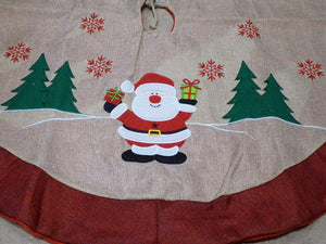 90cm SANTA Hessian Tree Skirt