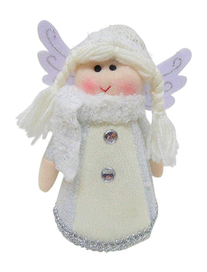 Uk-Gardens 20cm White Standing Glitter Fairy Angel Tree Topper