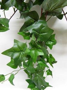 Artificial Plants 40cm Large Green Trailing Ivy Plant Foliage Hanging Trailing (Green)