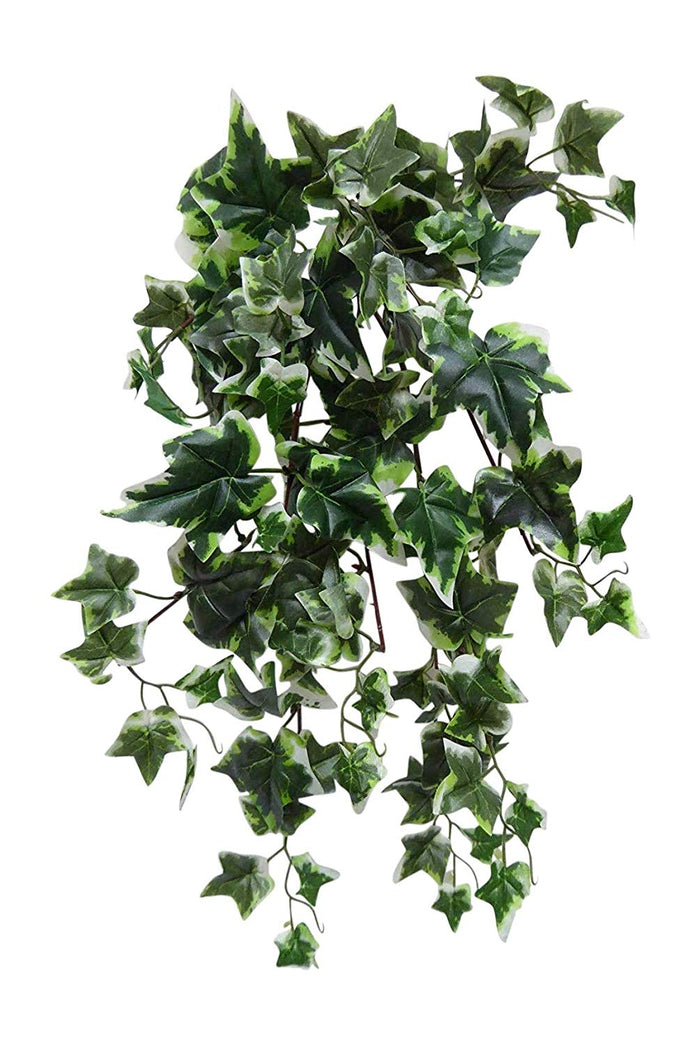 Artificial Plants 40cm Large Green Trailing Ivy Plant Foliage Hanging Trailing (Variegated)