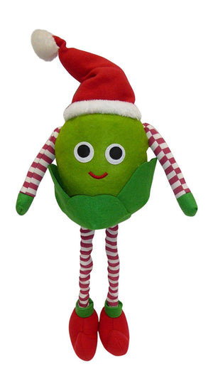 60cm Sid the Sprout Large Felt Standing Red and Green Christmas Decoration with Extending Legs