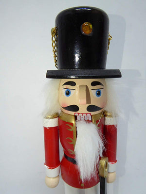 UK-Gardens Traditional 25cm Wooden Christmas Nutcracker King and Soldier Christmas Decorations - 2 Styles (Soldier)