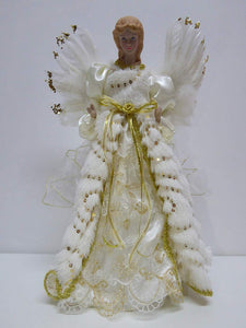 UK-Gardens 40cm Large Luxury Fairy Angel Tree Topper Christmas Decoration - 2 Colours (Gold)