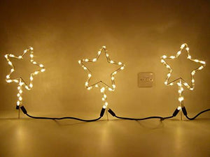 Christmas Decorations - Ropelight Star Pathway Lighting - Outdoor Garden Lighting Or Indoor Use