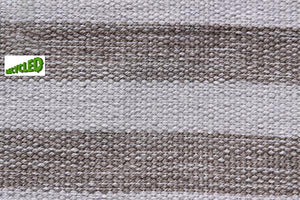 UK Gardens 150cm Stripe Rug Grey Recycled Textiles 12 Lines