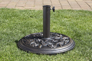UK-Gardens Bronze 9kg Garden Parasol Umbrella Base For 2m, 2.5m, 2.7m, Parasols With A 35mm, 38mm or 48mm Pole