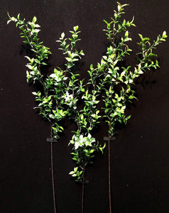 90cm 3ft Artificial Glitter Ruscus Stem