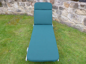 Garden Furniture Cushion - Green Cushion For Garden Sun Lounger Chair 198x60x5
