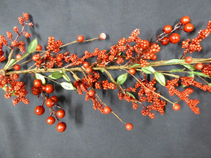 130cm 4ft Luxury Mixed Red Berry Artificial Christmas Garland