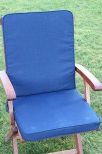 Navy Blue Seat and Back Chair Cushion For Folding Chair 95x42x5