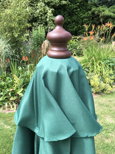 Small Hardwood 2m Green Pulley Wooden Garden Parasol Umbrella