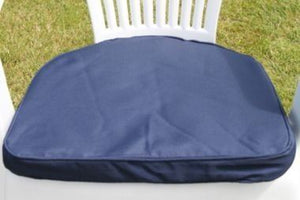 Navy Blue Seat Pad Round Back Chair Cushion 42x41x5
