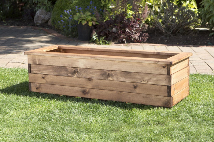 Large Rectangular Trough Wooden Garden Planter