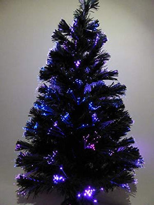 90cm 3ft Green Fibre Optic USB Christmas Tree Colour Changing With Multi-Coloured LED Lights
