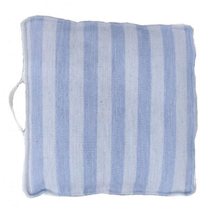 UK Gardens 50cm Stripe Pale Blue Recycled Textile Cushion