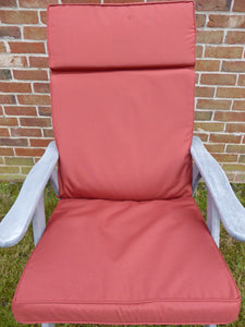 Garden Furniture Cushion - Terracotta Garden Recliner Chair Cushion 116x48x6
