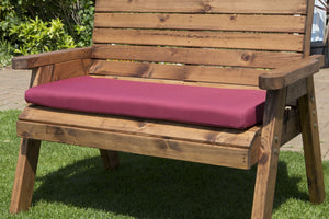 3 Seater Garden Bench Cushion (Burgundy)