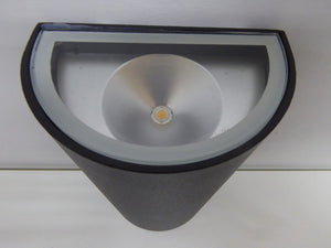 Matt Black LED Up and Down Wall Light Aluminium
