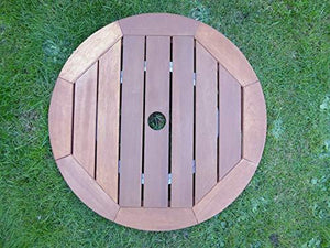 Large 60cm Brown Lazy Susan Outdoor Wooden Dining Table Accessory