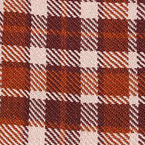 UK Gardens 130m Tartan Throw Cinnamon Recycled Textiles