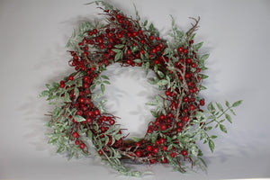 Authentic Twig Christmas Decoration Artificial Frosted Glitter Wreath