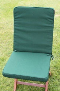 Green Seat and Back Cushion for Folding Chair 95x42x5