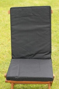 Black Seat and Back Cushion for Folding Chair 95x42x5