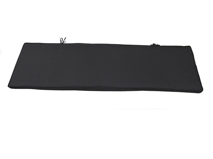 BLACK 4 Seater Bench Cushion  160x46x6