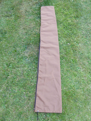 UK-Gardens Brown Waterproof Parasol Cover And Rotary Washing Line Cover for 3 meter or 2.7 Meter Parasols - Water Proof Garden Furniture Cover