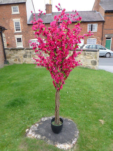 5' Artificial Tree - Dark Pink Artificial Blossom Tree - 1.7m Artificial Plant In A Pot