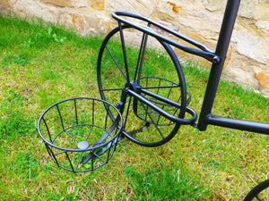 Black Metal Bicycle Plant Stand Garden Planter To Hold 4 Pot Plants