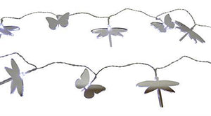 4ft 1.3m 10 LED Mirror Dragonfly and Butterfly Lights For Indoor Outdoor Use - Pre-Lit Decoration