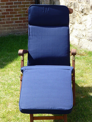 Garden Furniture Cushion - Navy Blue Cushion For Garden Steamer Chair 184x48x6