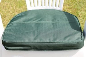 Green Seat Pad Round Back Chair Cushion 42x41x5