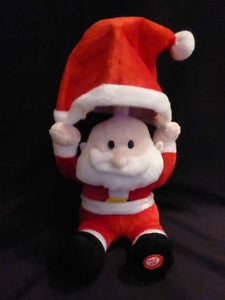30cm Sitting Santa Claus - Moving Dancing Animation Christmas Decoration