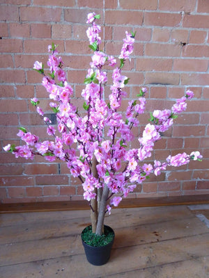 3' Artificial Tree - Light Pink Artificial Cherry Blossom Tree - 1m Artificial Plant In A Pot