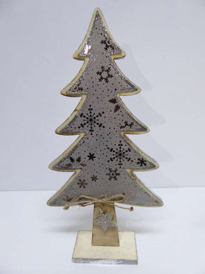 30cm Wooden Suede Effect Christmas Tree