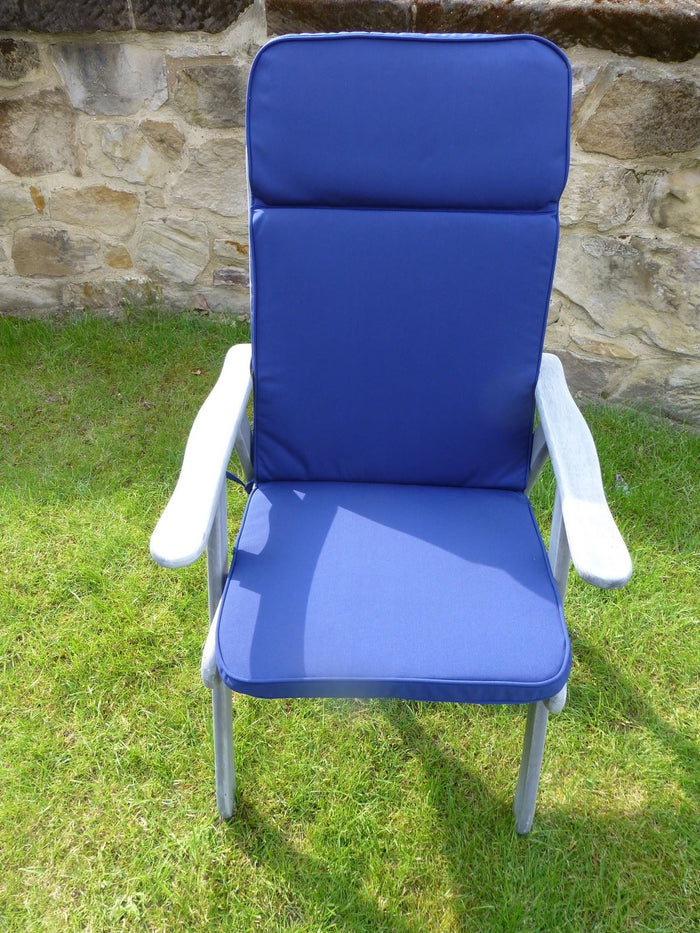 Garden Furniture Cushion - Navy Blue Garden Recliner Chair Cushion 116x48x6
