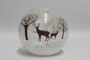 Reindeer 15cm Crackle Ball