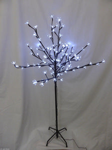 1.8m 6ft Bright White Christmas Blossom Tree Decoration With LED Lights