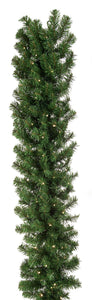 UK Gardens 270cm Bo Lit Green Christmas Garland Decoration Wreath 100 Lights