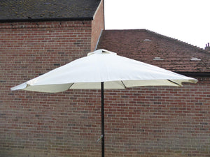 Large 2.7m Cream Metal Parasol with Crank Handle