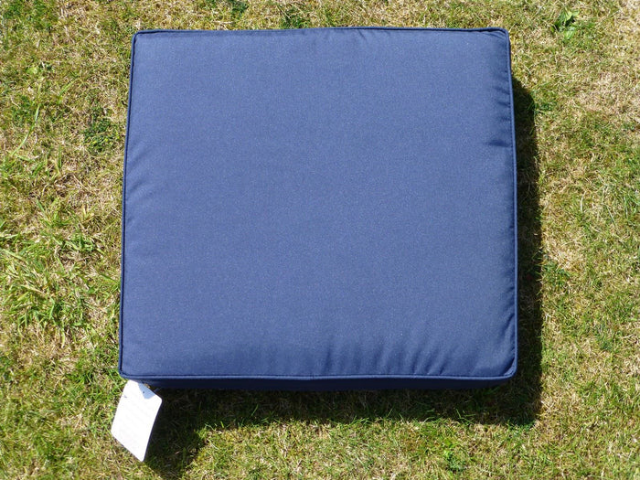Garden Furniture Cushions - Navy Blue Deep Square Seat Pad Armchair Cushion 48x52x7
