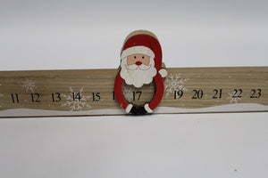 60cm Slide Along Santa Wooden Advent Calendar