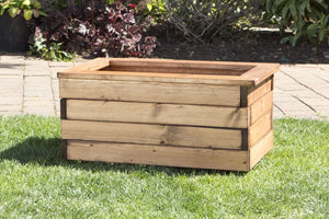 Small Rectangular Trough Wooden Garden Planter