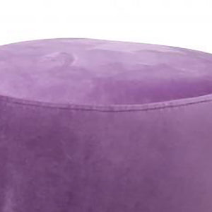 UK Gardens 40cm Lilac Round Velvet Ottoman Footstool Furniture