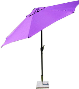 Large 2m Purple Crank And Tilt Garden Parasol Umbrella 200cm  Metal Pole