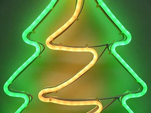 Christmas Decorations - 64cm Outdoor Christmas Tree Light Neon LED Xmas Tree Wall Outside