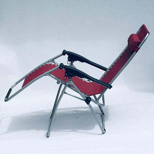 Red Garden Sun Lounger Relaxer Recliner Garden Chair